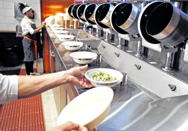 Роботизированный ресторан открылся в Бостоне